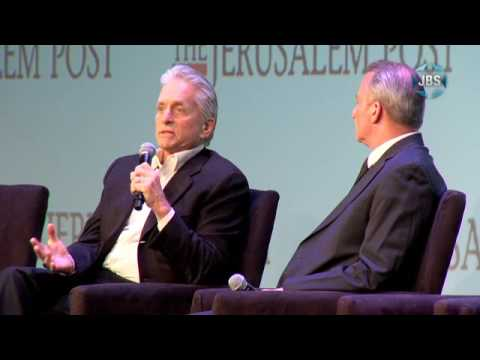 Michael Douglas speaks at the Jerusalem Post Conference, May 22nd, 2016