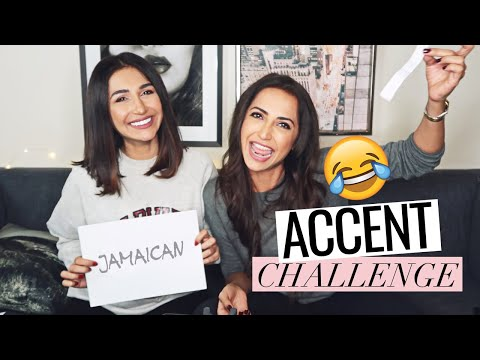 ACCENT Challenge feat. Zara Tareen #SisterTag (Bloopers at the end)