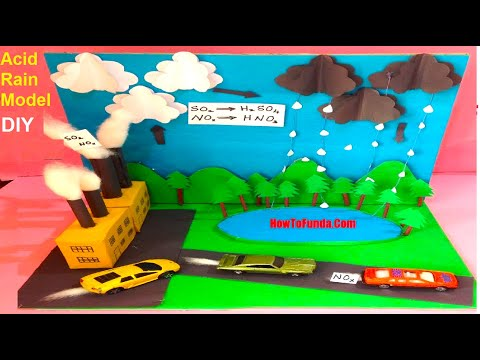 acid rain model for exhibition | science project for school kids or students