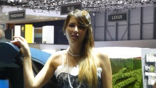 HOTESSES SALON AUTO GENEVE 2013  ЖЕНЕВА АВТОМОБИЛИ MANNEQUINS GIRLS