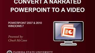Convert A Narrated PowerPoint to a Video