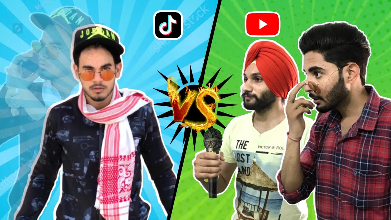 Tiktok Vs Youtube ( Collaboration ) - Manveer Ramgarhia ( Next Level )