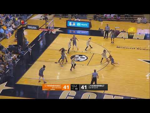 Lady Vol Basketball @ Vanderbilt Highlights