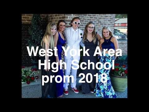 West York Area High School students at the 2018 prom at Wisehaven Event Center