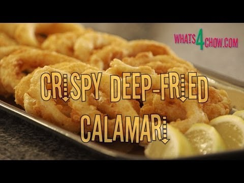 Easy crumbed calamari recipe