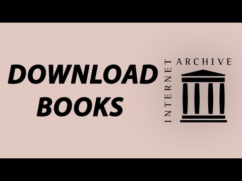 How To Download Books From Internet Archive.org For Free