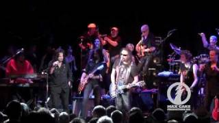 Ace Frehley, Alice Cooper, and the Supergroup playing Rock and Roll All Nite