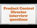Product Control Director interview questions