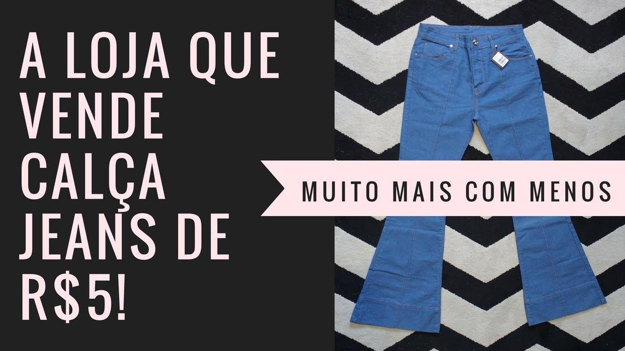a831e14e4 A loja de fábrica que vende jeans por R$5! - YouTube