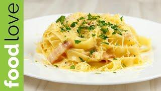 Паста КАРБОНАРА со сливками | Вкусный ужин | FoodLove