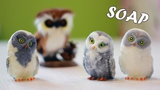Новогоднее мыло Сова 3D ? Мастер-класс ? Рисуем красивые глаза ? Soap making