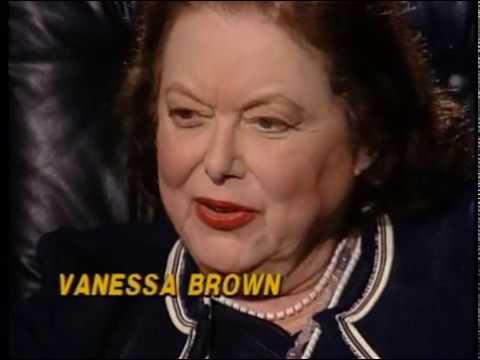 Vanessa Brown--Rare 1990 TV Interview