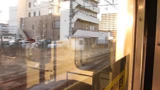 JR東日本211系の水上行きが高崎駅を発車(車内より)