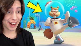 Jogando COMO A SANDY no jogo do BOB ESPONJA!! (Spongebob Squarepant Game)