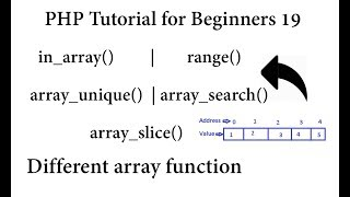 pHP Tutorial for Beginners #19 Different array function in  PHP   With Example's