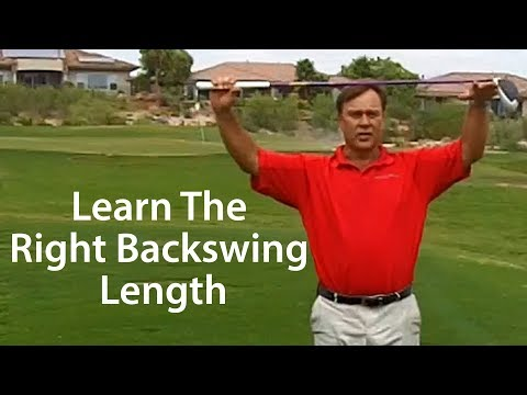 Golf Backswing - The Right Length of Swing with Driver
