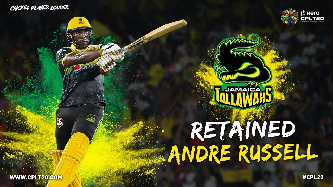 ANDRE RUSSELL | #CPLDraft #CPL20 #CricketPlayedLouder #AndreRussell #JamaicaTallawahs