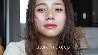 【Natural Makeup】Dewy Skin! Using Lip Color to Change the Look!