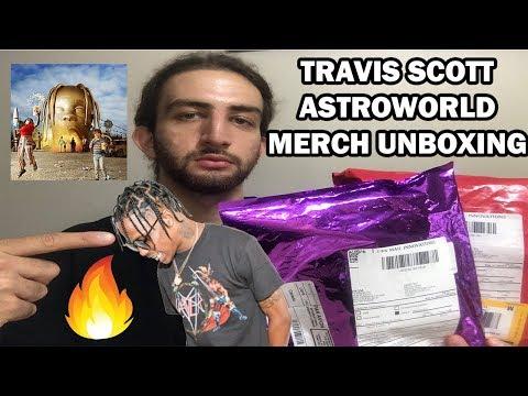 TRAVIS SCOTT ASTROWORLD TOUR MERCH UNBOXING!