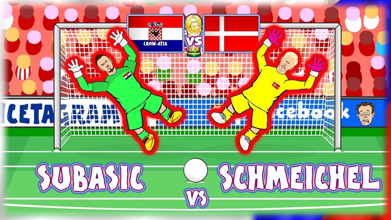 🧤SUBASIC vs SCHMEICHEL🧤 Croatia vs Denmark Penalty Shoot-Out! (World Cup 2018)