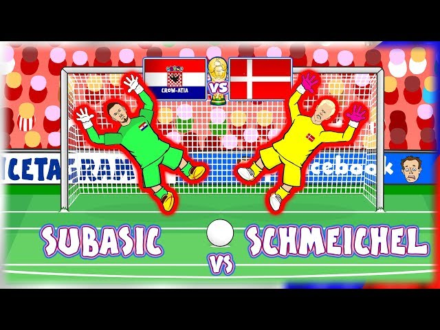 🧤SUBASIC vs SCHMEICHEL🧤 Croatia vs Denmark Penalty Shoot-Out! (World Cup 2018)