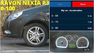 Ravon Nexia R3 - Acceleration 0-100 km/h (Racelogic)