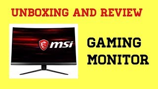 MSI Optix MAG241C 24-Inch Full HD 1920 x 1080 144Hz, Anti-Glare, USB