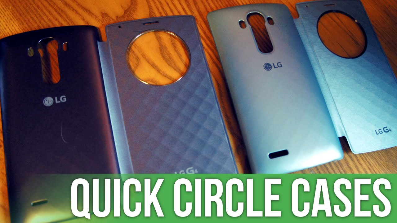 The two types of Quick Circle cases for the LG G4