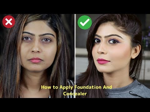 How To Apply Foundation For Full Coverage, Natural Looking Makeup | Rinkal Soni