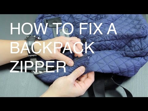 How to Fix a Backpack Zipper (Metal Zipper)