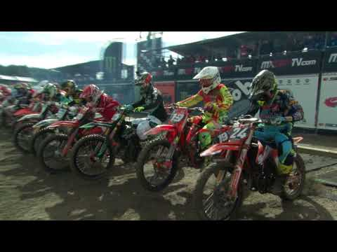 EMX125 Presented by FMF Racing Race 1 Gianlucca Facchetti Crash MXGP of Sweden 2017
