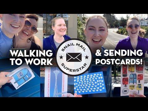 Walking to Work & Sending Postcards!