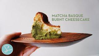 MATCHA BASQUE BURNT CHEESECAKE RECIPE - Sumopocky