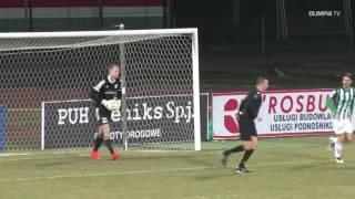 Skrót meczu Olimpia Grudziądz - Znicz Pruszków (1:0)