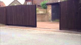 Very Quiet Sliding Wooden Gate By Simply Electric Gates