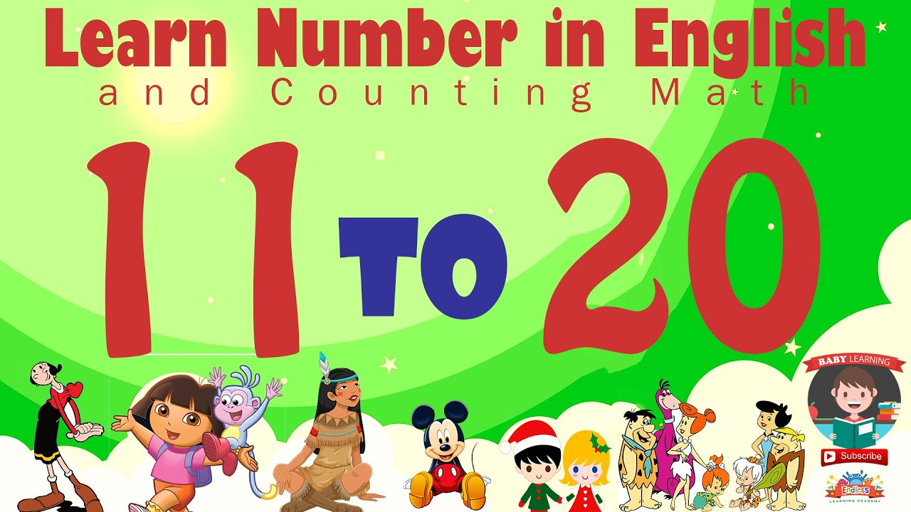 Download Learn Number Eleven 11 to Twenty 20 in English & Counting Math