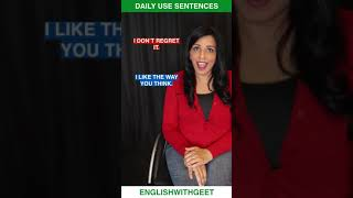 English Daily Use Sentences & Phrases   English Speaking Practice   English With Geet   #Shorts