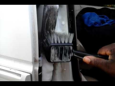 Dollar tree heavy traffic carpet foam cleaner on dirt seat belt
