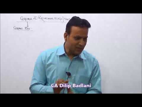 Accounts : Basics : Lecture 10 : Capital & Revenue : Part 1