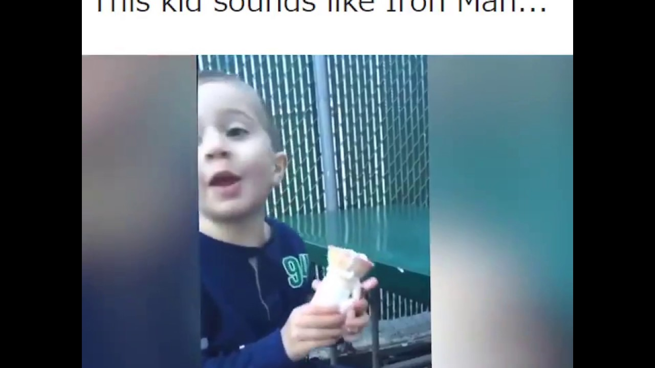 This Kid sounds like Iron-Man Meme