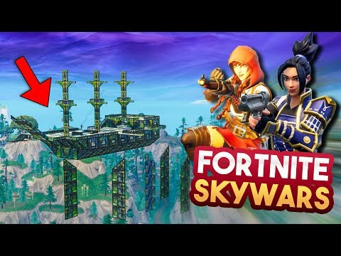 FORTNITE SKYWARS 2v2 MINIGAME v4!! - Fortnite Playground ft. Duncan, Eva & Jacco (Nederlands)