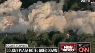 Colony Plaza Hotel Implosion Ocoee Florida
