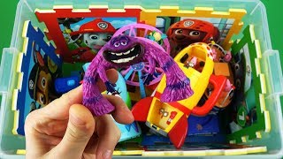 Characters, colors, vehicles - learning videos for kids: Ben & Holly, Peppa Pig, Monsters University