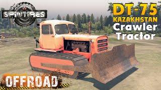 SpinTires DT-75 KAZAKHSTAN Crawler Tractor Off road Test