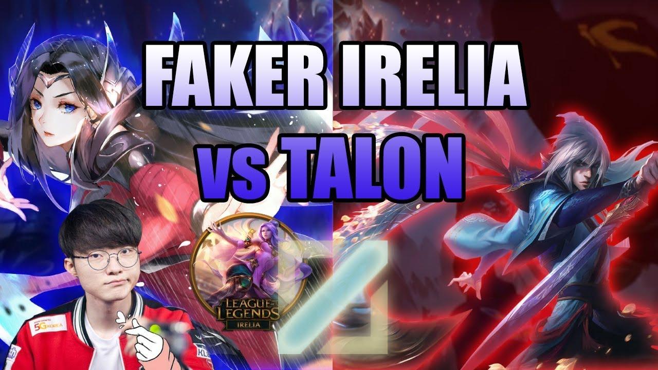 Faker Irelia Hard Carry | Faker Irelia 16/5/6 | SKT T1 Faker Irelia vs Talon