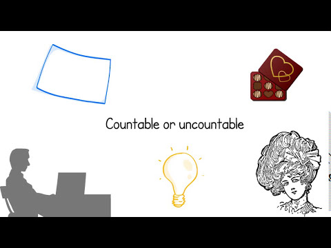 Learn English - Countable and Uncountable Nouns