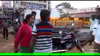 Traffic police attacked by two students in india