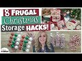 Christmas Decor Storage Hacks! 🎄 8 Frugal DIY Ideas