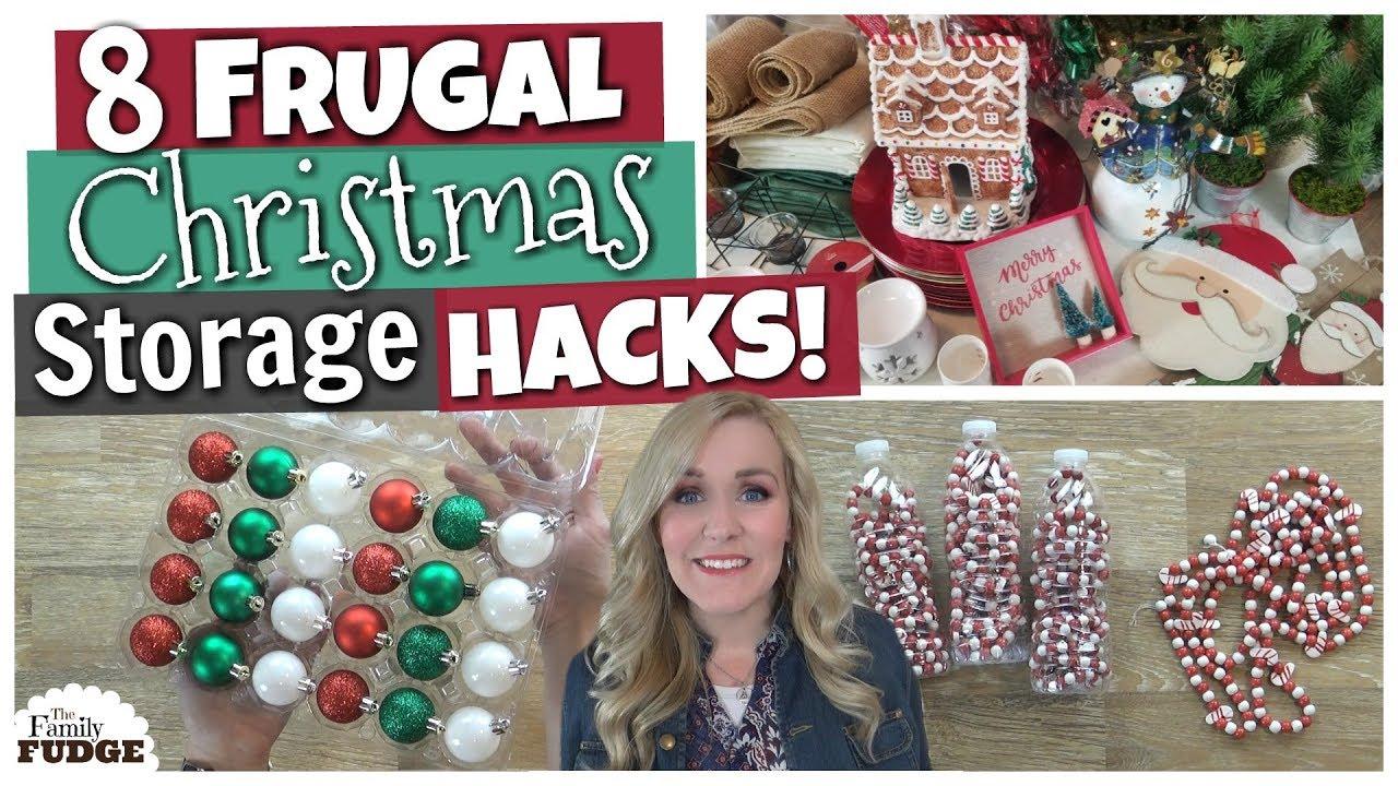 Christmas Decor Storage Hacks! ? 8 Frugal DIY Ideas  sc 1 st  YouTube & Christmas Decor Storage Hacks! ? 8 Frugal DIY Ideas - YouTube