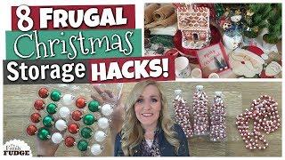 Christmas Decor Storage Hacks! 🎄 8 Frugal DIY Ideas